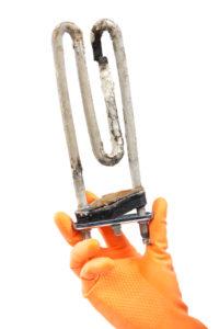 Damaged heating element of the washing machine